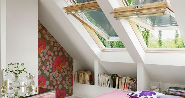 Tetőtéri ablakok a tetőtérben