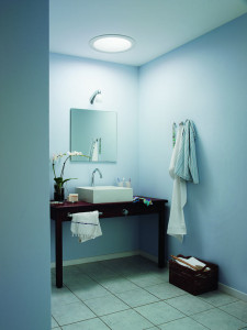 Velux fénycsatorna a fürdőszobában