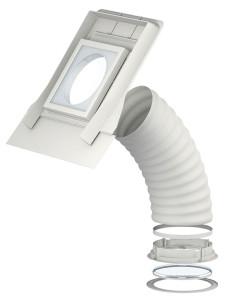 Flexibilis fénycsatorna metszet