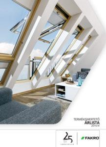 Fakro tetőtéri ablak árlista
