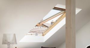 Velux GHL tetőtéri ablak kinyitva