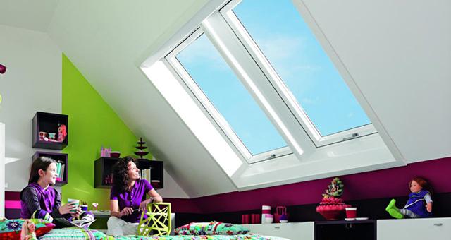 Roto R8 tetőtéri ablakok ikerbeépítésben