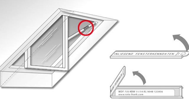 Roto tetőtéri ablak adattáblája